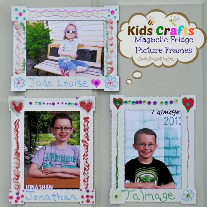 Best ideas about DIY Picture Frame For Kids . Save or Pin Kids Craft DIY Magnet Fridge Frames with BIC Mark it marker Now.