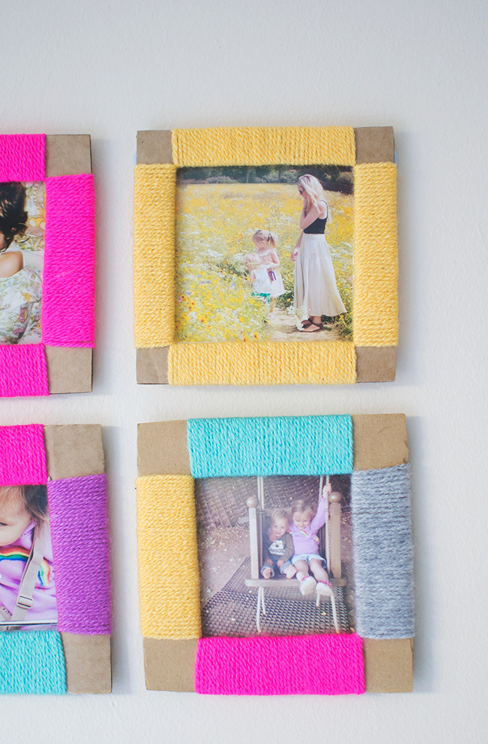 Best ideas about DIY Picture Frame For Kids . Save or Pin yarn wrapped diy photo frames Now.