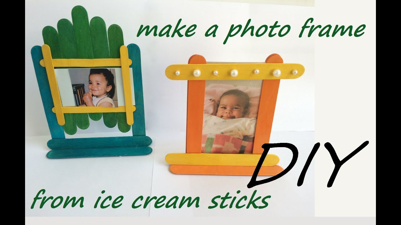 Best ideas about DIY Picture Frames For Kids . Save or Pin DIY frames ice cream sticks popsicle fun craft Now.