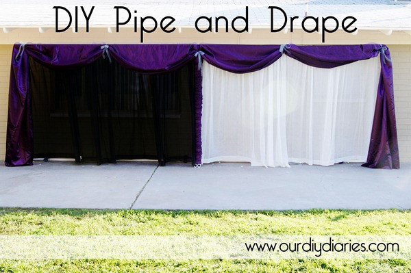 Best ideas about DIY Pipe And Drape Backdrop For Wedding . Save or Pin Blissful 55 Shower Me with Pretty Thing DIY Pipe and Drape Now.