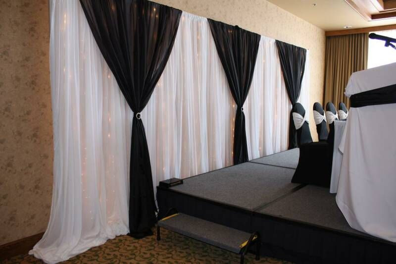 Best ideas about DIY Pipe And Drape Backdrop For Wedding . Save or Pin Pipe & Drape Grad Party Pinterest Now.