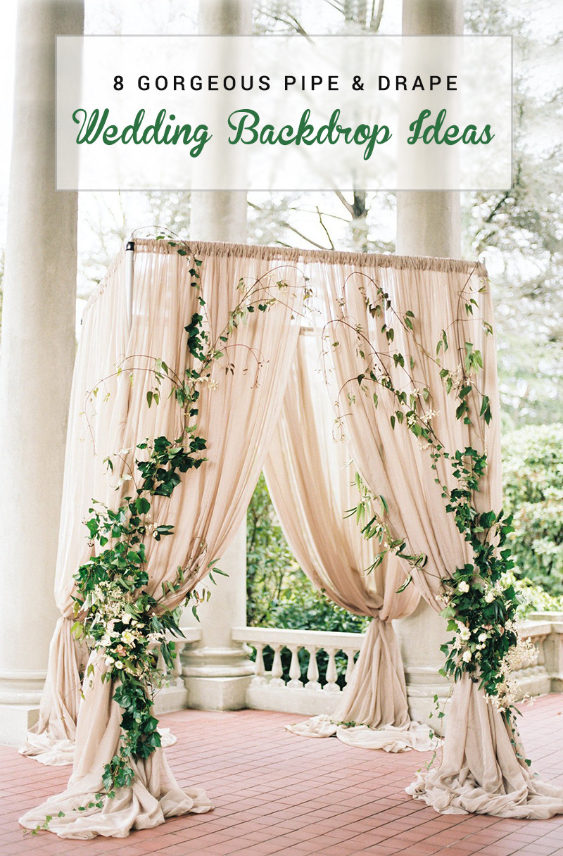 Best ideas about DIY Pipe And Drape Backdrop For Wedding . Save or Pin 8 Gorgeous Pipe & Drape Wedding Backdrops BridalPulse Now.