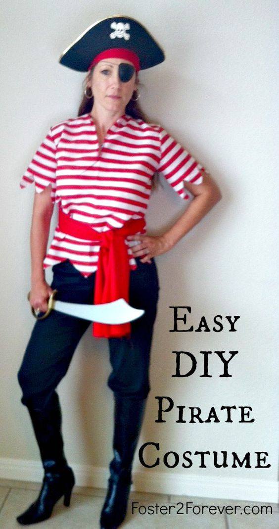 Best ideas about DIY Pirate Costumes For Kids . Save or Pin Here is a cute DIY homemade pirate costume idea for women Now.