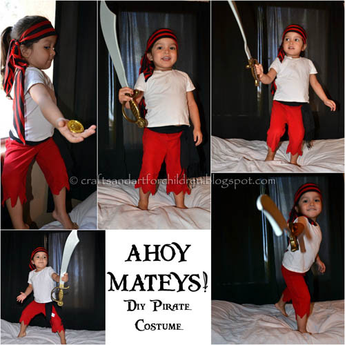 Best ideas about DIY Pirate Costumes For Kids . Save or Pin DIY Halloween Costumes for Kids Now.