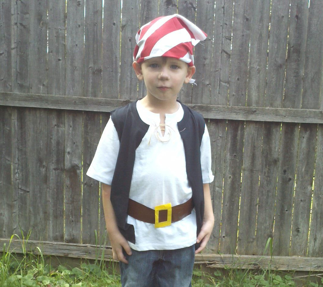 Best ideas about DIY Pirate Costumes For Kids . Save or Pin Quick and easy pirate costumes take kids to Neverland Now.