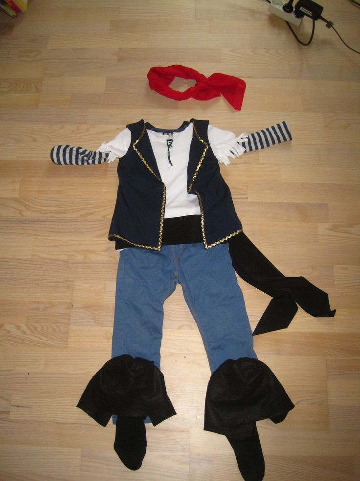 Best ideas about DIY Pirate Costumes For Kids . Save or Pin DIY No sew Jake and the neverland pirates costume for kids Now.