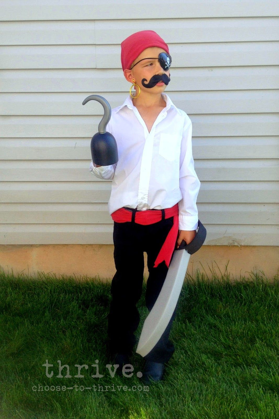Best ideas about DIY Pirate Costumes For Kids . Save or Pin 100 Simple Halloween Costumes That You Probably Have In Now.