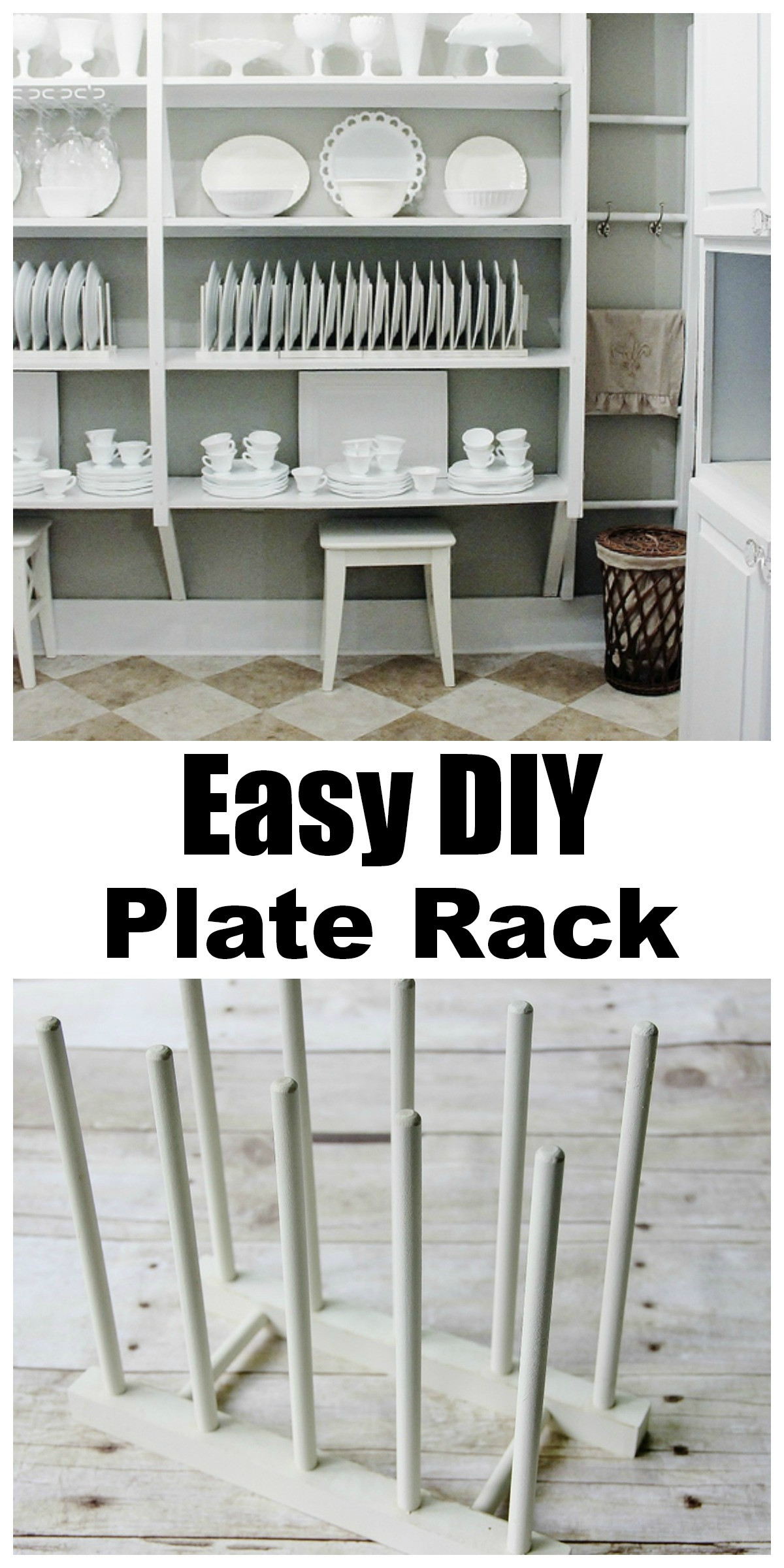 Best ideas about DIY Plate Rack . Save or Pin Simple Plate Display Rack Thistlewood Farm Now.