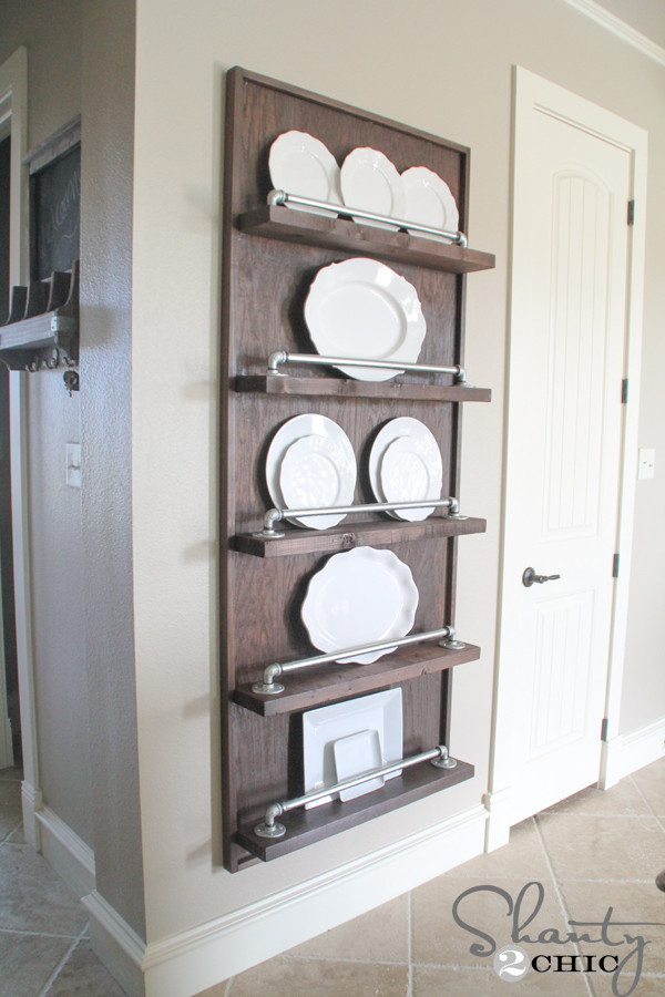 Best ideas about DIY Plate Rack . Save or Pin DIY Industrial Pipe Plate Rack Shanty 2 Chic Now.