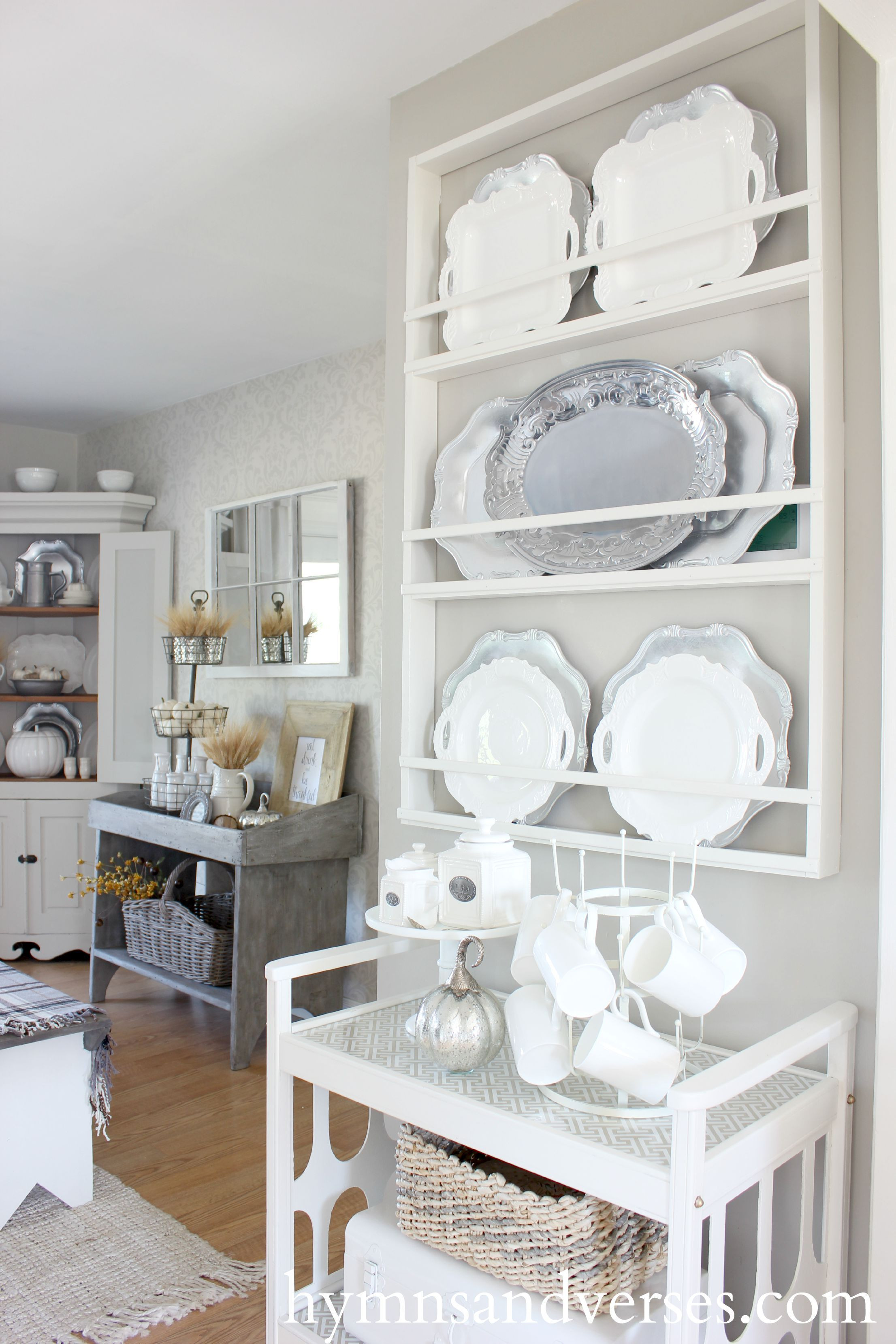 Best ideas about DIY Plate Rack . Save or Pin My Small Home Tour Hymns and Verses Now.
