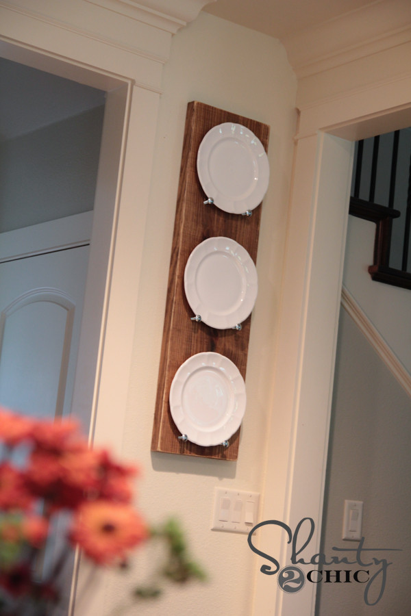 Best ideas about DIY Plate Rack . Save or Pin DIY Plate Rack for under $10 Shanty 2 Chic Now.