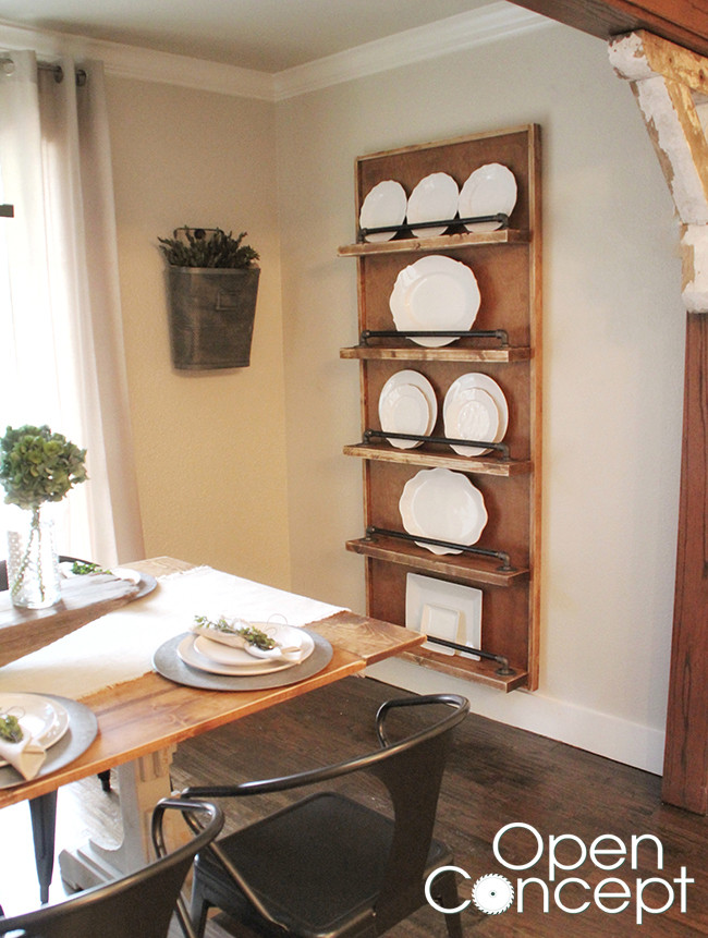 Best ideas about DIY Plate Racks . Save or Pin DIY Industrial Pipe Plate Rack Shanty 2 Chic Now.
