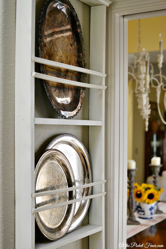 Best ideas about DIY Plate Racks . Save or Pin DIY Wall Plate Rack At The Picket Fence Now.