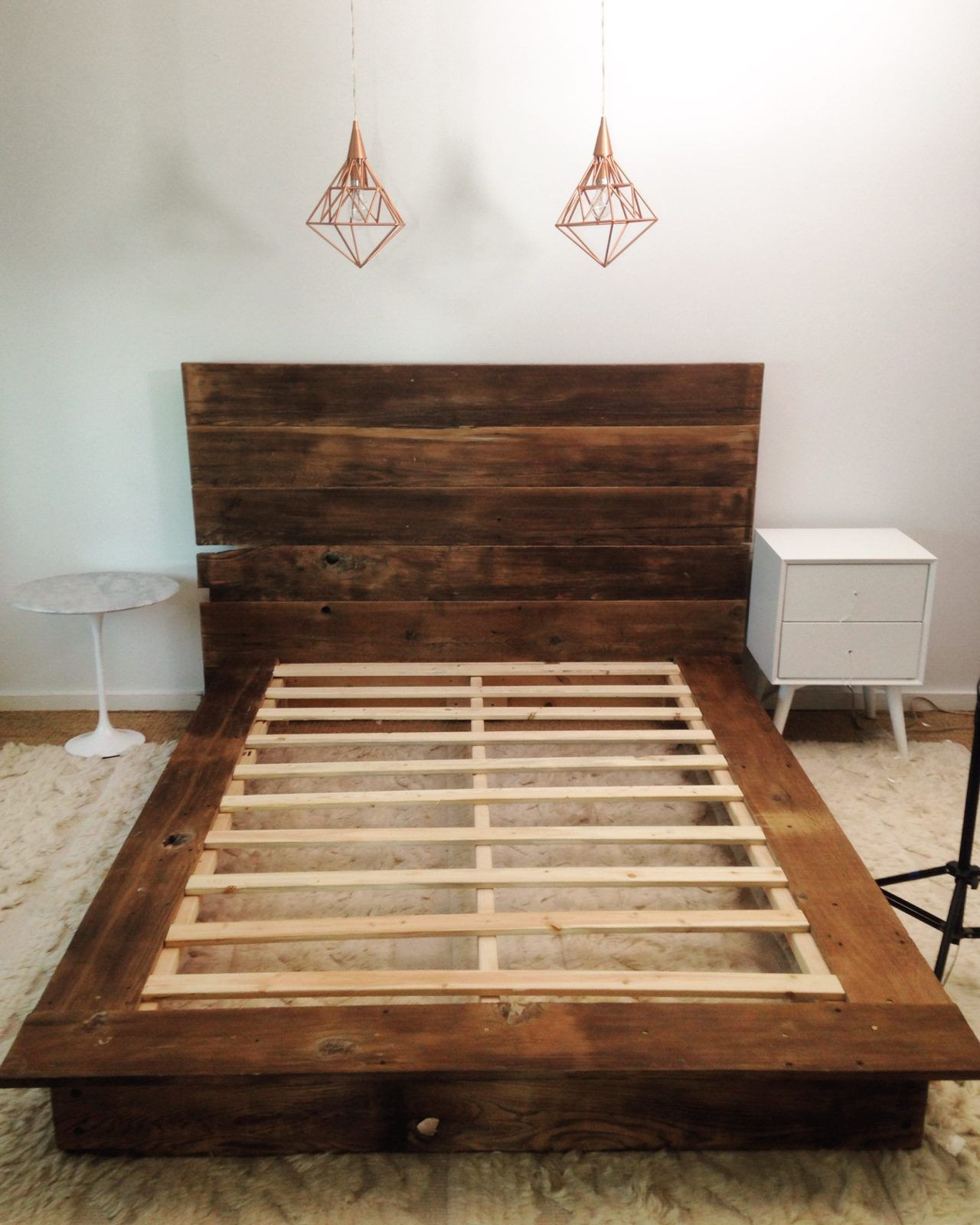 Best ideas about DIY Platform Bed Frame Queen . Save or Pin DIY Reclaimed Wood Platform Bed in 2019 Home Now.