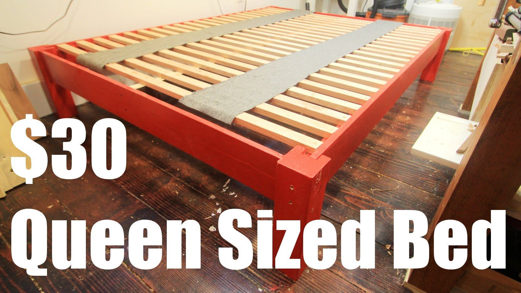 Best ideas about DIY Platform Bed Frame Queen . Save or Pin How To Make a Queen Sized Bed Frame for Under $30 Now.