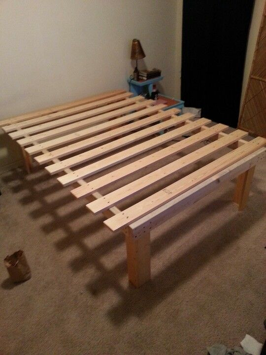 Best ideas about DIY Platform Bed Frame Queen . Save or Pin Very cheap and easy diy queen platform bed $55 I want Now.