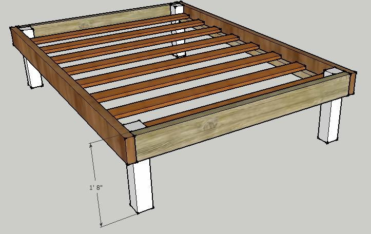 Best ideas about DIY Platform Bed Frame Queen . Save or Pin Make Your Own Platform Bed Now.