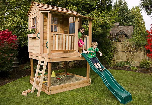 Best ideas about DIY Playhouse Kits . Save or Pin Playhouse Kits Wooden Cedar Playhouses – Outdoor Living Today Now.