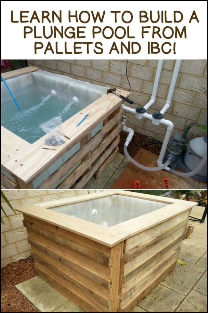Best ideas about DIY Plunge Pool . Save or Pin 194 best images about Pallets Recycled Repurposed on Now.