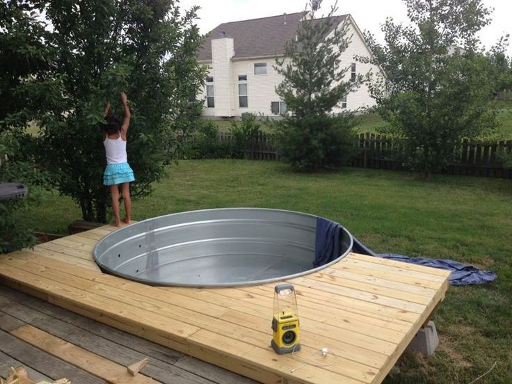 Best ideas about DIY Plunge Pool . Save or Pin Galvanized Stock Tank Turned DIY Pool Now.