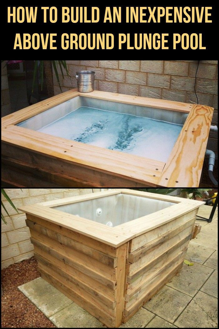 Best ideas about DIY Plunge Pool . Save or Pin How to build an inexpensive above ground plunge pool Now.