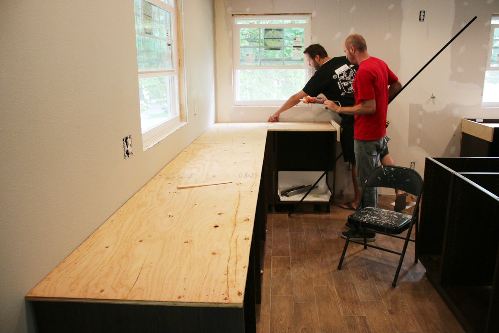 Best ideas about DIY Plywood Countertops . Save or Pin DIY White Concrete Countertops Chris Loves Julia Now.
