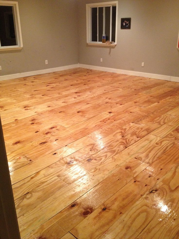 Best ideas about DIY Plywood Floor . Save or Pin DIY plywood plank floor Hearth and home Now.
