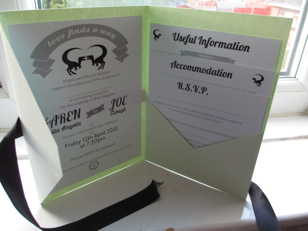 Best ideas about DIY Pocket Wedding Invitations . Save or Pin My DIY Dino Wedding Wedding Invitations WELL I GUESS Now.