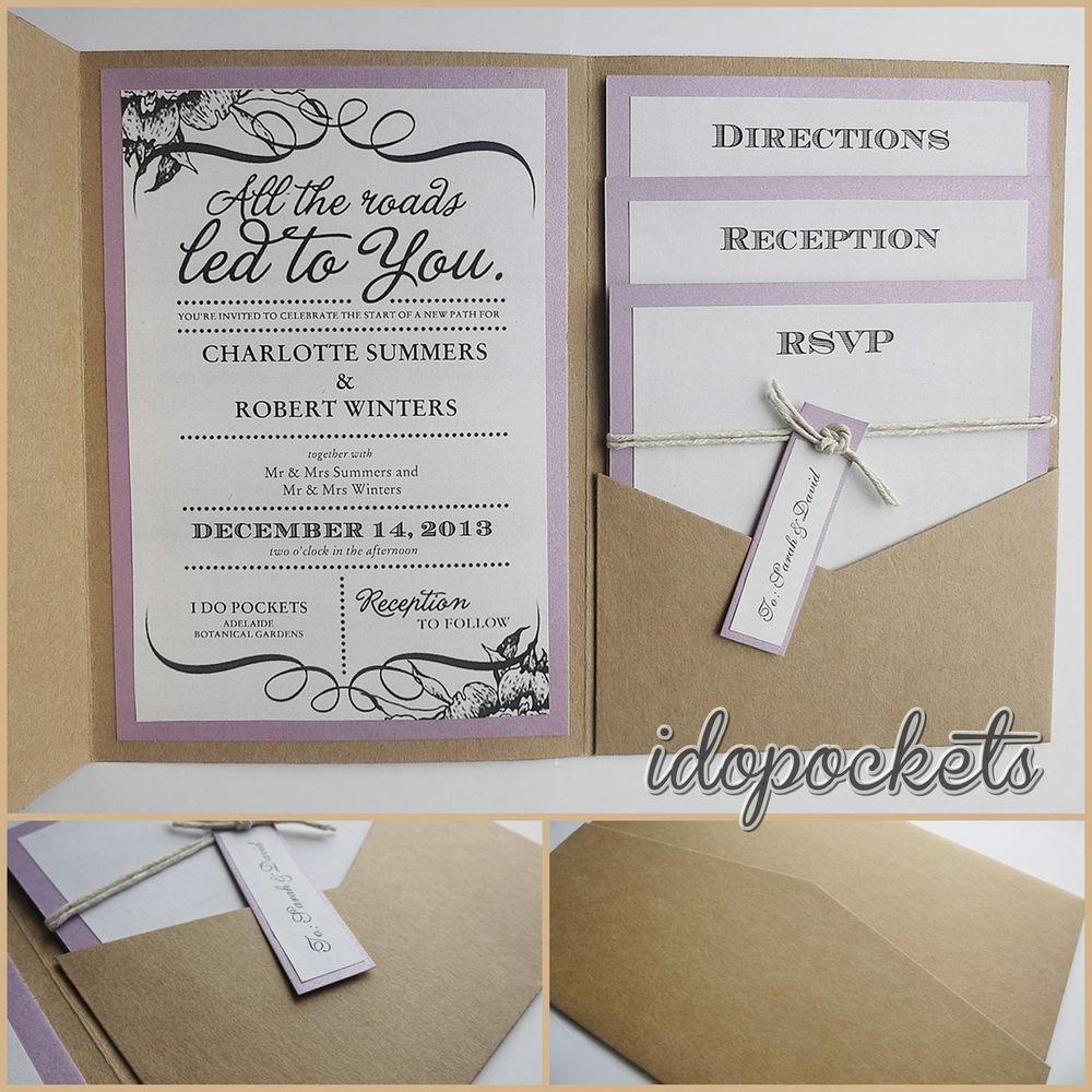 Best ideas about DIY Pocket Wedding Invitations . Save or Pin KRAFT WEDDING POCKET INVITATIONS DIY POCKETFOLD ENVELOPES Now.