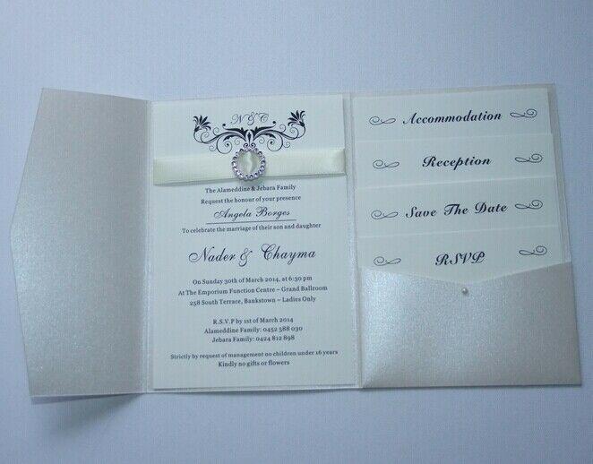 Best ideas about DIY Pocket Wedding Invitations . Save or Pin Pearl Ivory Pocketfold Wedding Invitations DIY pocket Now.