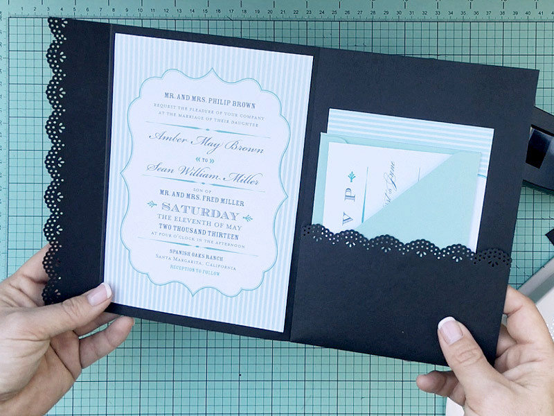 Best ideas about DIY Pocket Wedding Invitations . Save or Pin How to Hack an Envelope into a Pocket Invitation Now.
