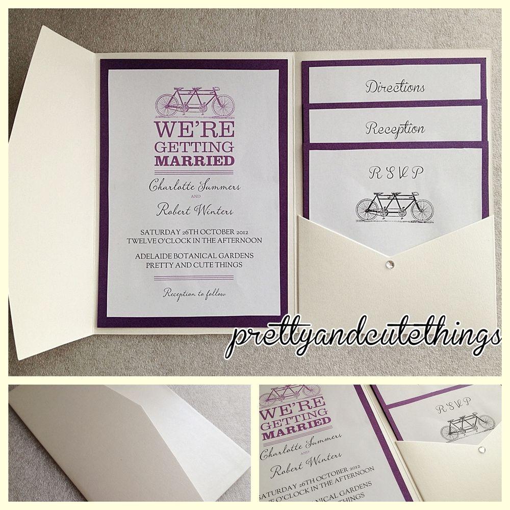 Best ideas about DIY Pocket Wedding Invitations . Save or Pin IVORY CREAM VINTAGE WEDDING INVITATIONS DIY POCKET FOLD Now.