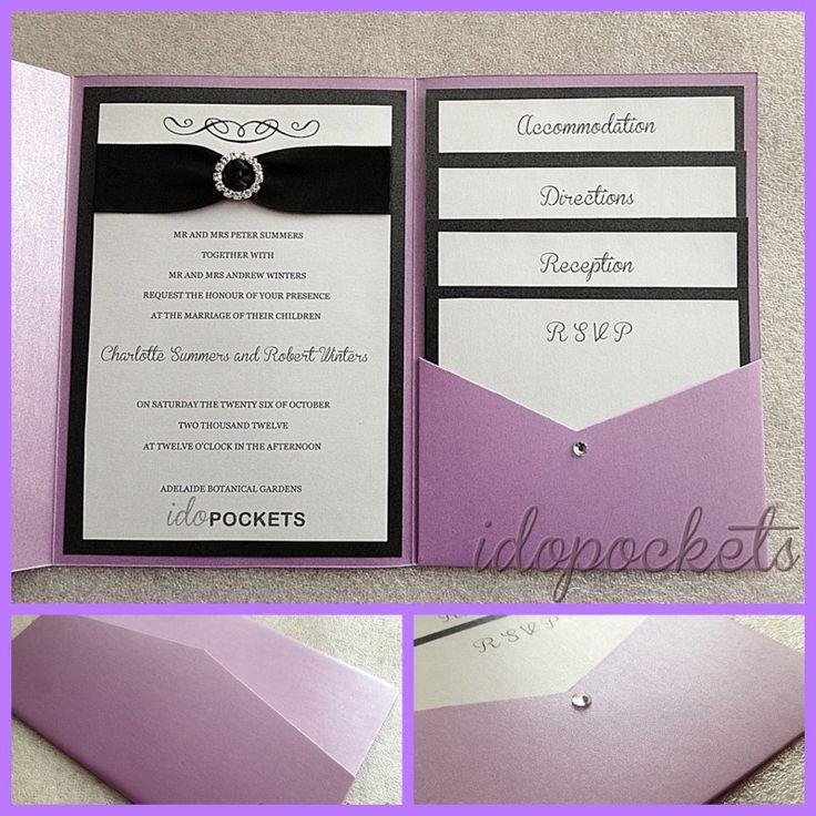 Best ideas about DIY Pocket Wedding Invitations . Save or Pin POCKET FOLD WEDDING INVITATIONS DIY ENVELOPES INVITE Now.