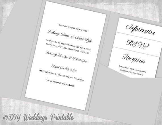 Best ideas about DIY Pocket Wedding Invitations . Save or Pin Pocket Wedding Invitations Template DIY pocketfold wedding Now.