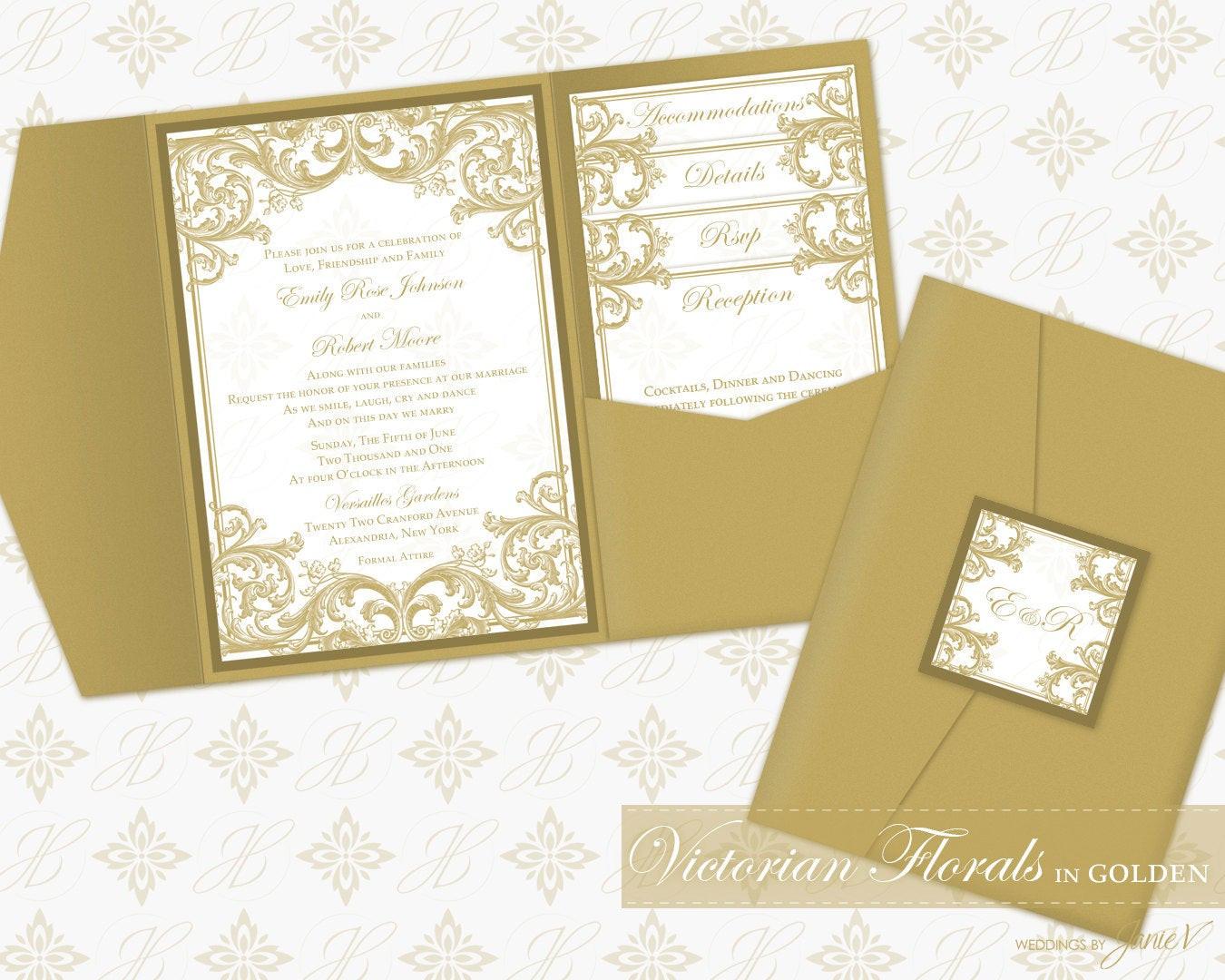 Best ideas about DIY Pocket Wedding Invitations . Save or Pin DIY Printable Wedding Pocket Invitation Template Printable Now.