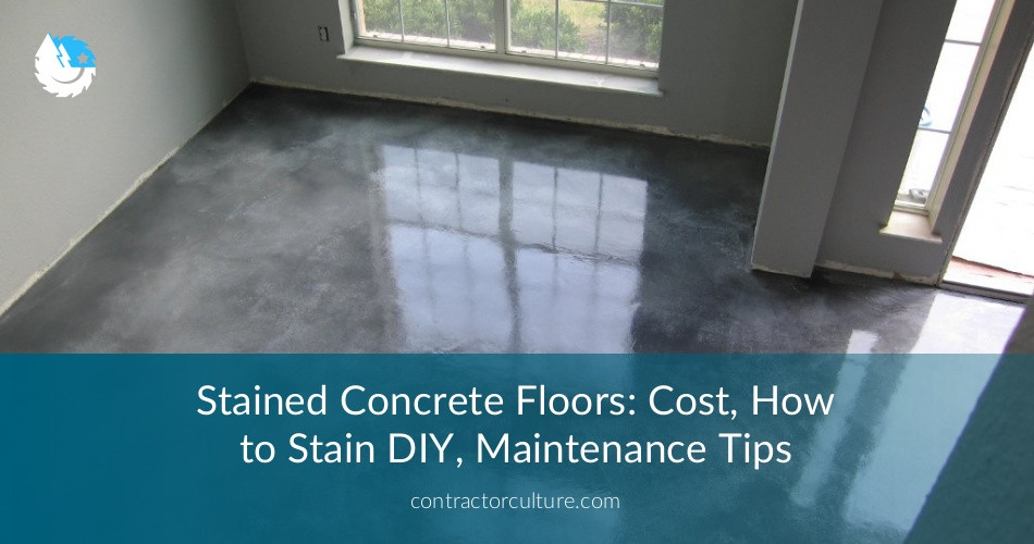 Best ideas about DIY Polished Concrete Floor . Save or Pin Stained Concrete Floors Cost How to Stain DIY Now.