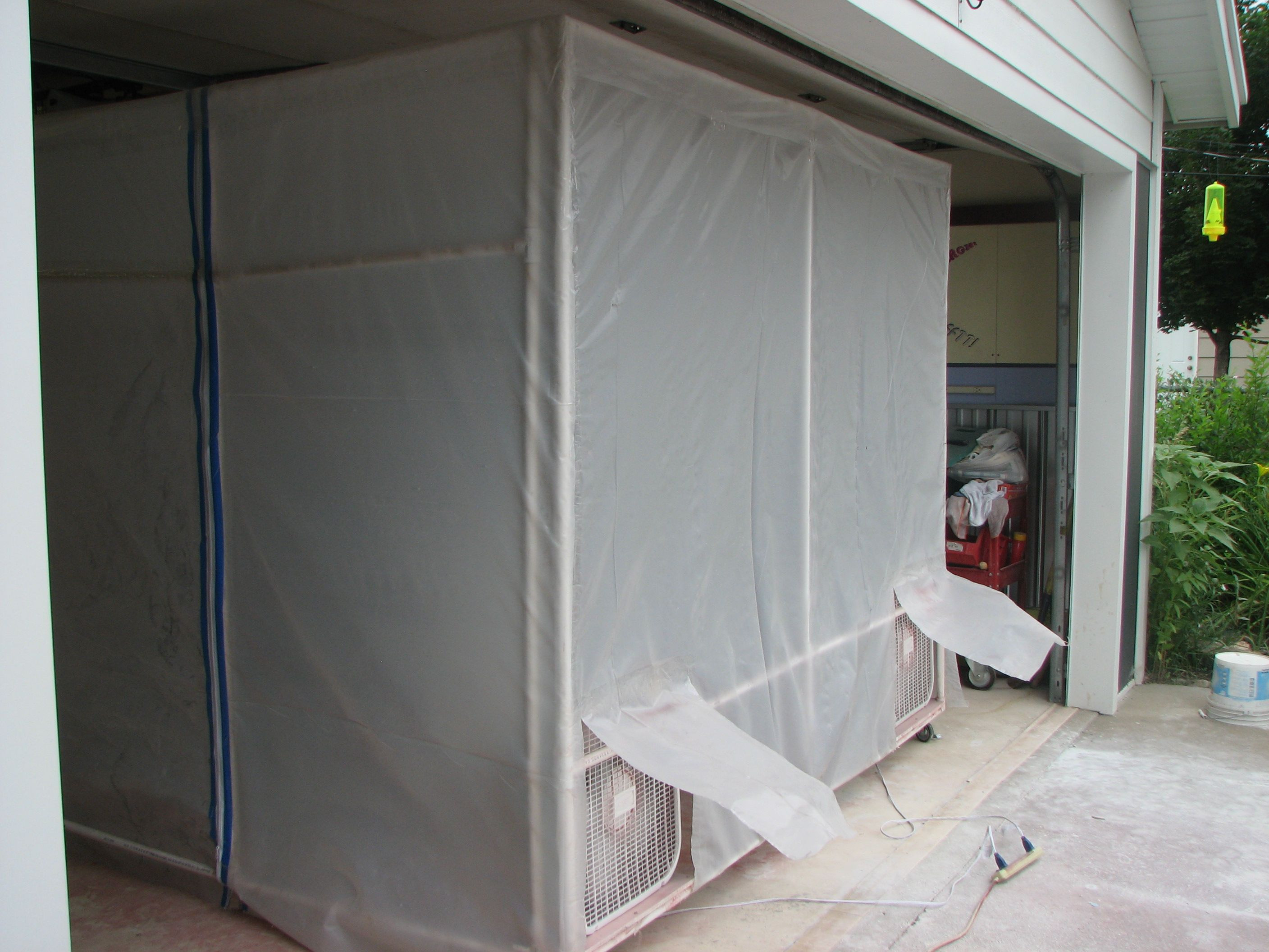 Best ideas about DIY Portable Paint Booth . Save or Pin portable paint booth PVC pipe clear plastic 9 furnace Now.