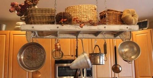 Best ideas about DIY Pot And Pan Rack . Save or Pin DIY Hanging a Kitchen Pot Rack Now.