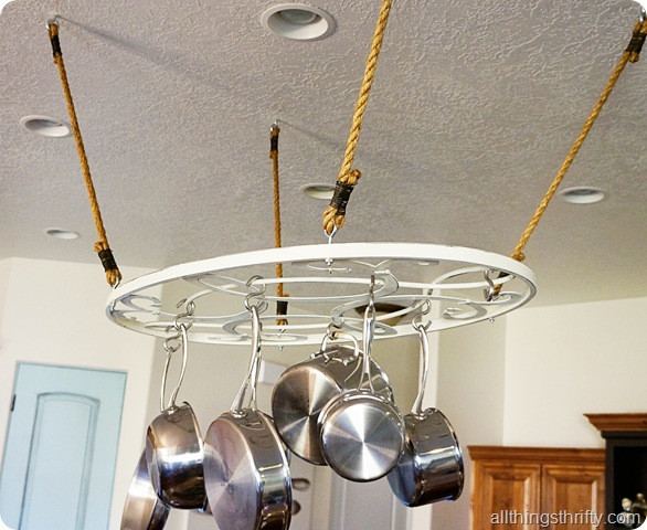 Best ideas about DIY Pot Rack . Save or Pin DIY Tutorial Affordable Pot Rack Now.