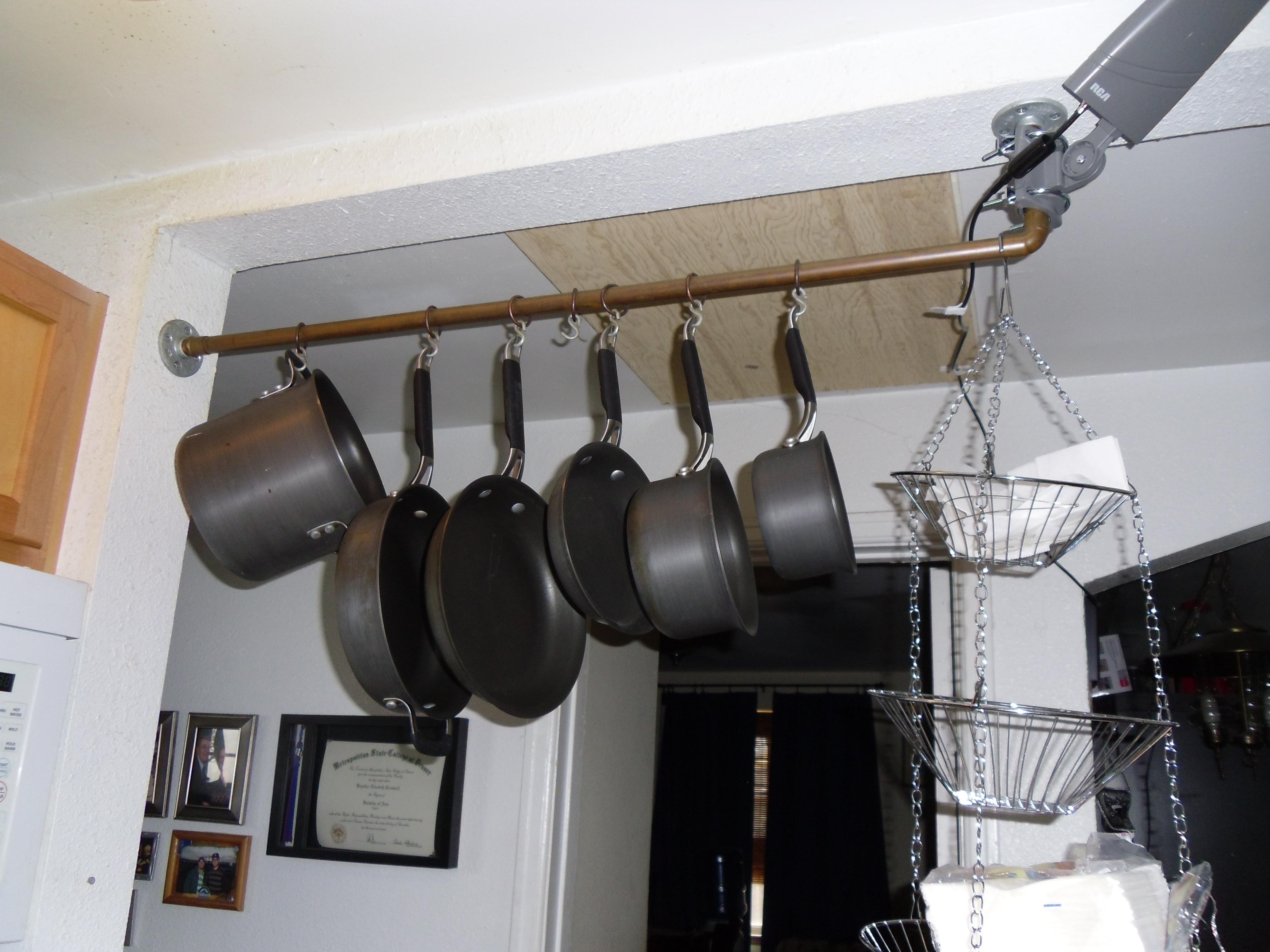 Best ideas about DIY Pot Rack . Save or Pin DIY Pot Rack Now.