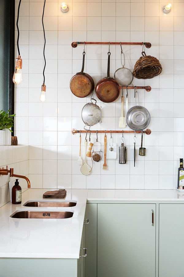 Best ideas about DIY Pot Rack . Save or Pin DIY Idea Make a Rustic Copper Pipe Pot Rack Now.