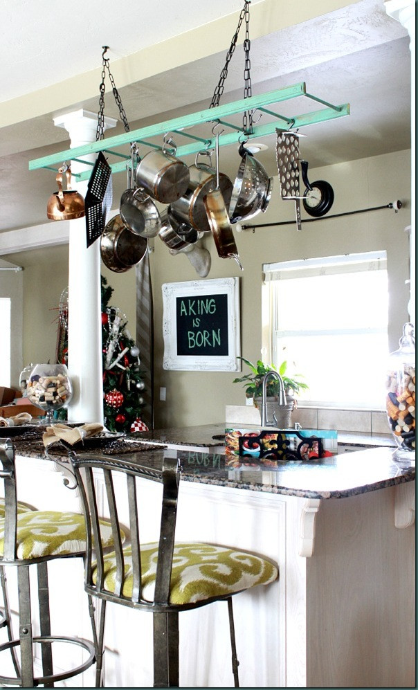 Best ideas about DIY Pot Rack . Save or Pin $40 00 Ladder DIY Pot Rack Refunk My Junk Now.