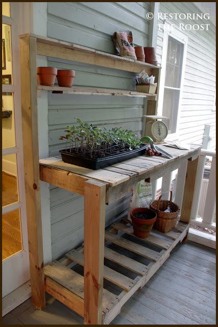Best ideas about DIY Potting Bench Plans . Save or Pin Restoring the Roost DIY Wood Pallet Potting Bench Now.