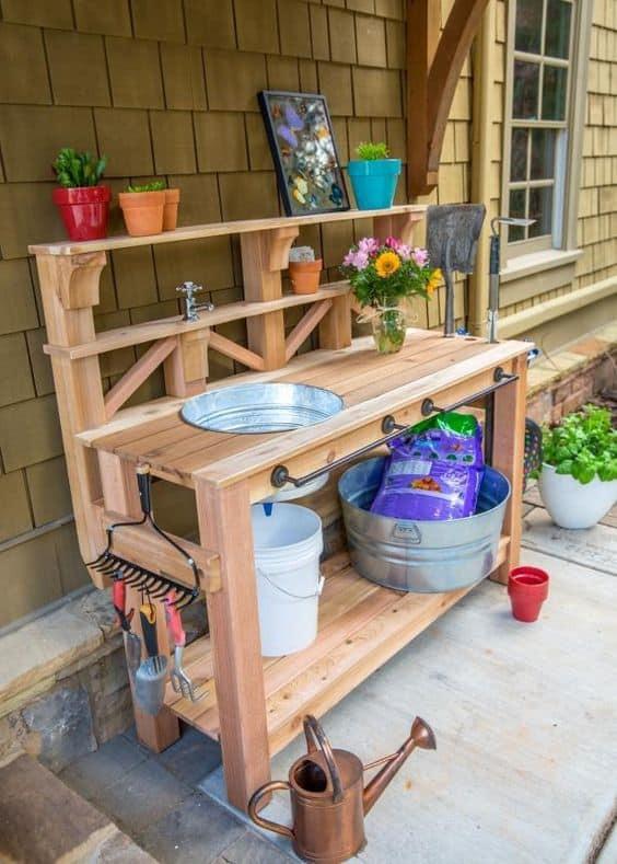 Best ideas about DIY Potting Bench Plans . Save or Pin Beautiful Garden Potting Bench Plans Ideas Now.
