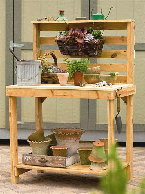 Best ideas about DIY Potting Bench Plans . Save or Pin DIY Pallet Potting Benches Now.