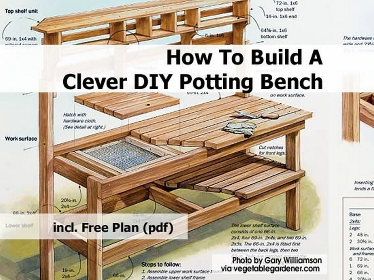 Best ideas about DIY Potting Bench Plans . Save or Pin How To Build A Clever DIY Potting Bench Now.