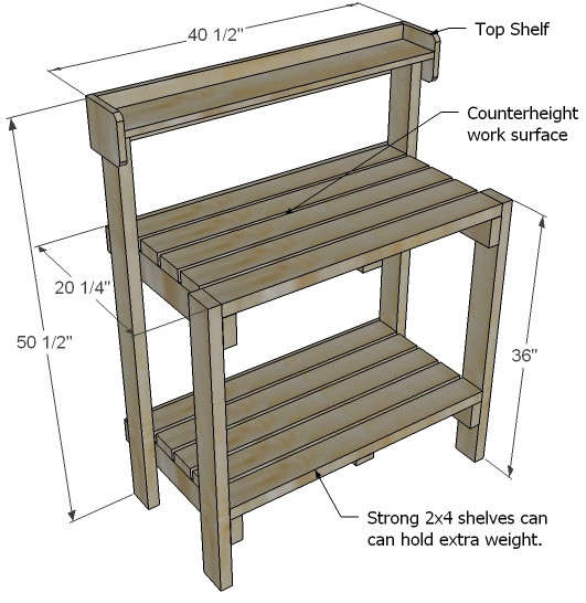 Best ideas about DIY Potting Bench Plans . Save or Pin Ana White Now.