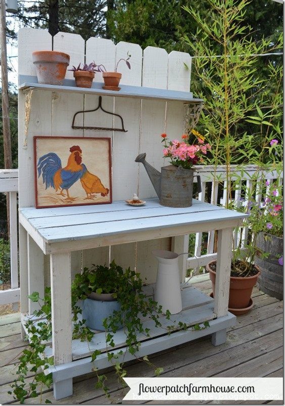 Best ideas about DIY Potting Bench Plans . Save or Pin My Mega Millions Potting Bench Flower Patch Farmhouse Now.