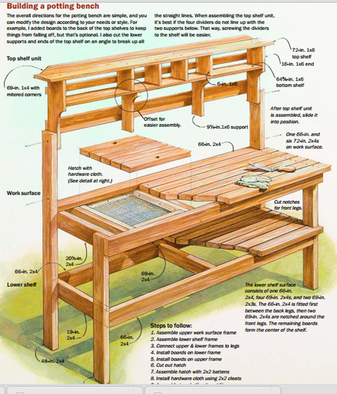 Best ideas about DIY Potting Bench Plans . Save or Pin Download Plans for pallet potting bench Plans DIY double Now.