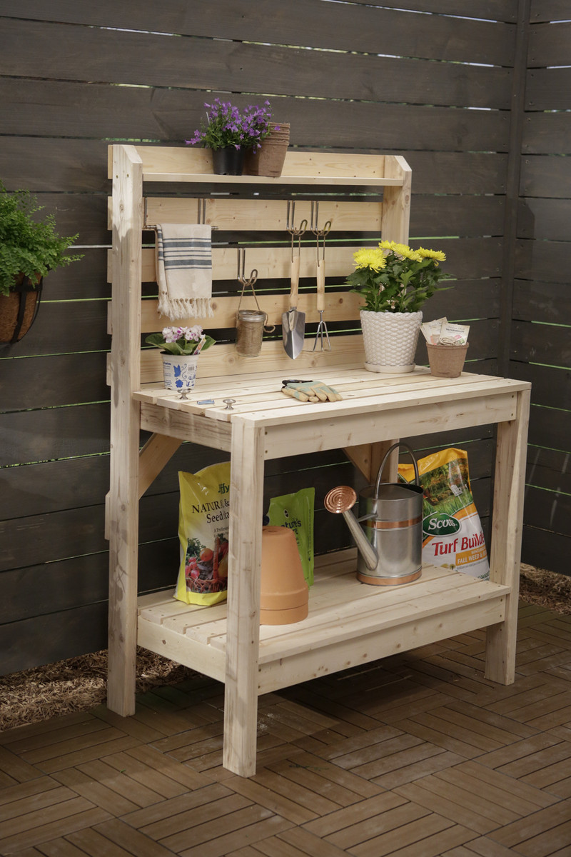 Best ideas about DIY Potting Benches . Save or Pin Simple 2x4 Potting Bench Now.